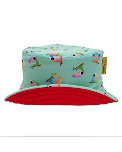 Cheekaaboo Reversible Sun Hat - Red/Toucan - FS
