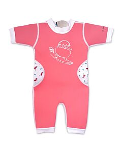 Cheekaaboo Warmiebabes Suit - Salmon Pink/Flamingo - M (12-18M) - 20% OFF!!