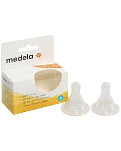 Medela: Breastmilk Bottle Spare Teats (Pack of 2) - Slow Flow - 10% OFF!!
