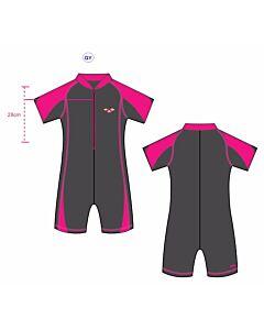Arena: UV Sun Suit (28J - 7-8yrs) - Pink