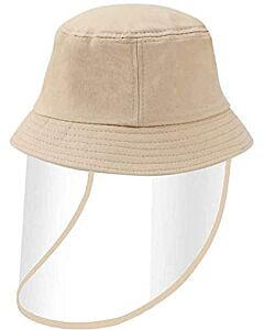 Face Shield / Kids Protective Hat - Khaki