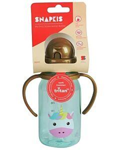 Snapkis: Straw Water Bottle 350ml | Unicorn - 30% OFF!!