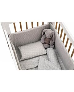 Funbies: Viggo Baby Cot 6 in 1 Bedding Set *Value Set* (Polka Dot Grey) - 5% OFF!!