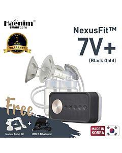 Haenim NexusFit™ 7V+ Portable Electric Breast Pump - Black Gold - (RM516 OFF!!)
