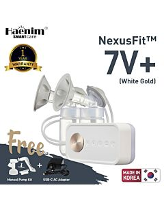Haenim NexusFit™ 7V+ Portable Electric Breast Pump - White Gold - (RM516 OFF!!)