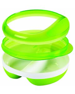 OXO TOT: Divided Feeding Dish with Removable Ring - Green - 25% OFF!