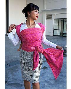 JumpSac - Damask Pink/Orange (Woven Wrap) - Size 5 (4.2m)