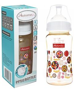 Autumnz: PPSU Wide Neck Feeding Bottle (10oz/300ml) - Abstract *Single Pack*