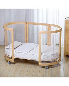 Babyhood Amani Bebe 7 Pce Bedding Set for Sova Cot (White)