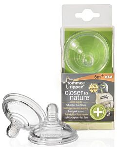 Tommee Tippee: Closer to Nature Anti-Colic Plus Teat – Fast Flow (6 mths +)