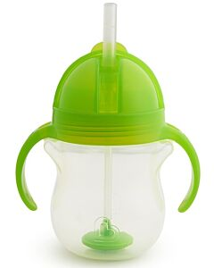 Munchkin: Any Angle™ Click Lock Weighted Straw Trainer Cup 7oz/207ml - Green (6+ Months) - 25% OFF!!