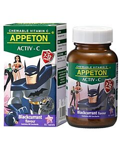 Appeton Activ-C (Blackcurrant) Tablets 60's (For 7-12 Years Old) - 10% OFF!