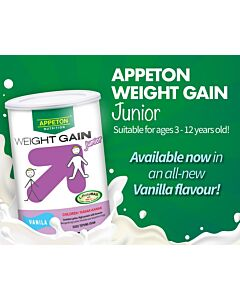 Appeton: Weight Gain Junior (Vanila) - 3-12 years old