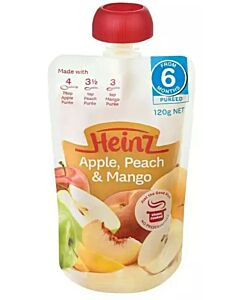 Heinz: Simply Apple, Peach & Mango Pouch 120g (From 6+ Months)