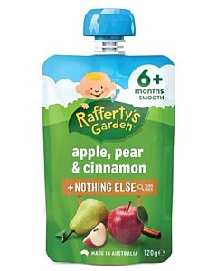 Rafferty's Garden: Apple, Pear & Cinnamon 120g (6+ Months) - 23% OFF!!