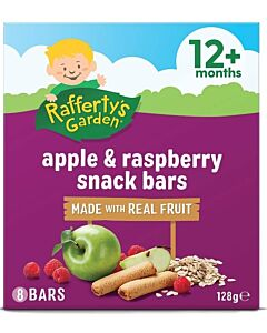 Rafferty's Garden: Apple & Raspberry Snack Bar [8 Bars] 128g (12+ Months) - 16% OFF!!