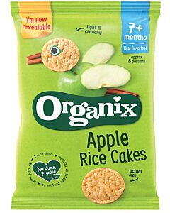 Organix Finger Foods Apple Rice Cakes 50g (7+ Months)