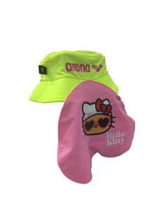 Arena Hello Kitty Swimming Cap - Neon Yellow/Pink