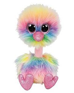 "Ty Beanie Boos: Asha - Rainbow Ostrich (Medium) 13"""