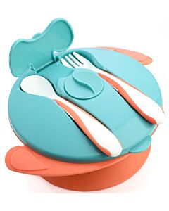 Autumnz: Baby Suction Bowl with Spoon & Fork | Orange - 15% OFF!!