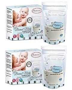 Autumnz - Double ZipLock Breastmilk Storage Bag (28 bags) *7oz* - 2 PACK