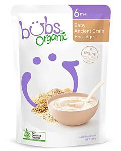 Bubs Organic Baby Ancient Grain Porridge 125gm (6+ Months) - 9% OFF!!