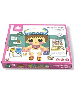 Funny Kid's: Baby Change Puzzle with Magnetic Board - 10% OFF!!
