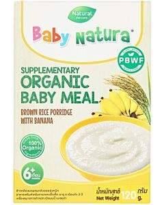 Baby Natura: Organic Brown Rice Porridge with Banana