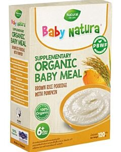 Baby Natura: Organic Brown Rice Porridge with Pumpkin