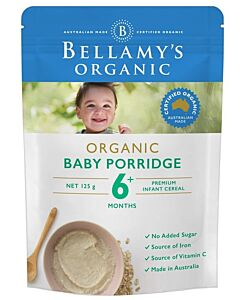 Bellamy's Organic Baby Porridge 125g - 18% OFF!!