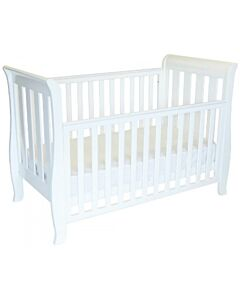 Babyhood Classic Sleigh 4-in-1 Convertible Cot (White) - 10% OFF!!