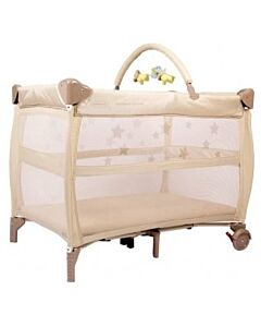 Babyhood: Bambino Dormire Portacot (Latte and Cream) - 27% OFF!!  (Plus FREE Change Table + Toybar + Portacot Canopy net)