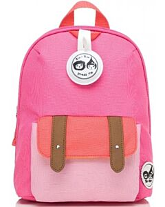 BabyMel: Mini Backpack & Safety Harness / Reins Age 1-4 Years (Hot Pink Colour Block) - 15% OFF!!