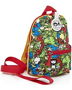 BabyMel: Mini Backpack & Safety Harness / Reins Age 1-4 Years (Dino Multi) - 15% OFF!!