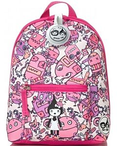 BabyMel: Mini Backpack & Safety Harness / Reins Age 1-4 Years (Robot Pink) - 15% OFF!!