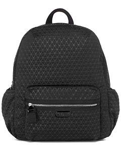 Babymel Luna Ultra Lite Diaper Backpack - Black (Scuba Emboss) - 20% OFF!!