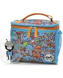 Babymel: Zip & Zoe Zipped Lunch Bag & Ice pack - Robot Blue - 20% OFF!!