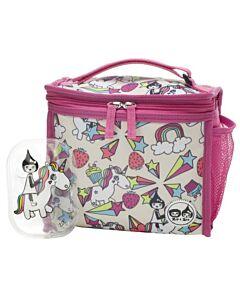Babymel: Zip & Zoe Zipped Lunch Bag & Ice pack - Unicorn - 20% OFF!!