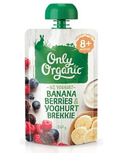 Only Organic: Banana, Berries & Yoghurt Brekkie 120g (8+ Months) - 10% OFF!!
