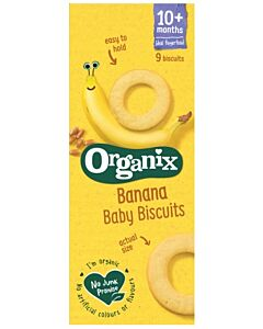 Organix Finger Foods Banana Baby Biscuits 54g (10+ Months)