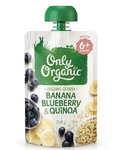 Only Organic: Banana, Blueberry & Quinoa 120g (6+ Months) - 10% OFF!!