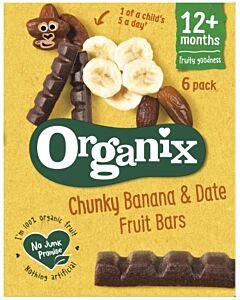 Organix Goodies Date & Banana Chunky Fruit Bars (6pack x 17g)