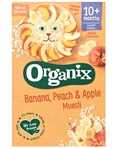 Organix Banana, Peach & Apple Muesli 200g (10+ Months)