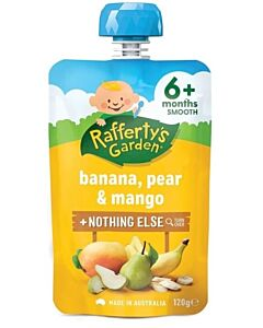 Rafferty's Garden: Banana, Pear & Mango 120g (6+ Months) - 23% OFF!!