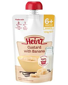 Heinz: Simply Custard with Banana Pouch 120g (From 6+ Months)