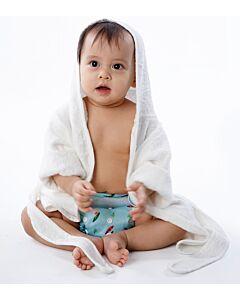 Cheekaaboo: Premium Bamboo Hooded Bathrobe - White - 10% OFF!!