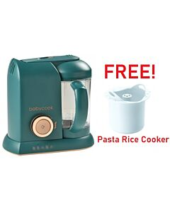 Beaba: Babycook Solo - Pine Green (Limited Edition) + FOC Pasta Rice Cooker