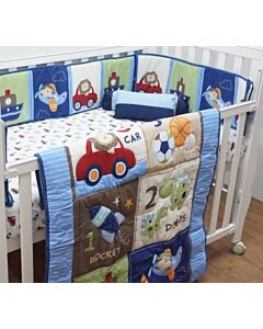 Happy Cot: Bedding Set - Boys Will Be Boys - 10% OFF!!