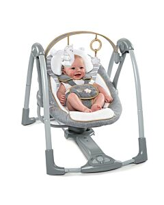 Bright Starts: Ingenuity Boutique Collection Swing 'N Go Portable Swing - Bella Teddy
