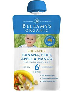 Bellamy's: Organic Banana Pear Apple & Mango 90g (Ready to serve)
